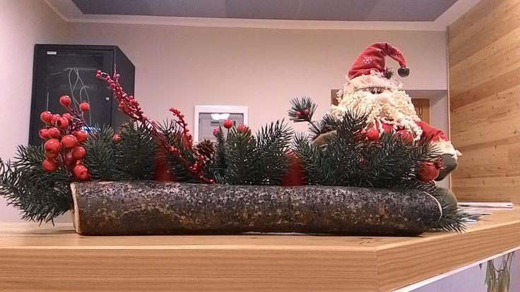 Decorazioni natalizie in reception