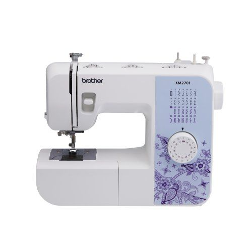 Brother XM2701 Lightweight, Full-Featured Sewing Machine with 27 Stitches, 1-Step Auto-Size Buttonholer, 6 Sewing Feet, and Instructional DVD Brother http://www.amazon.com/dp/B00JBKVN8S/ref=cm_sw_r_pi_dp_TY8bub0RTFXGS