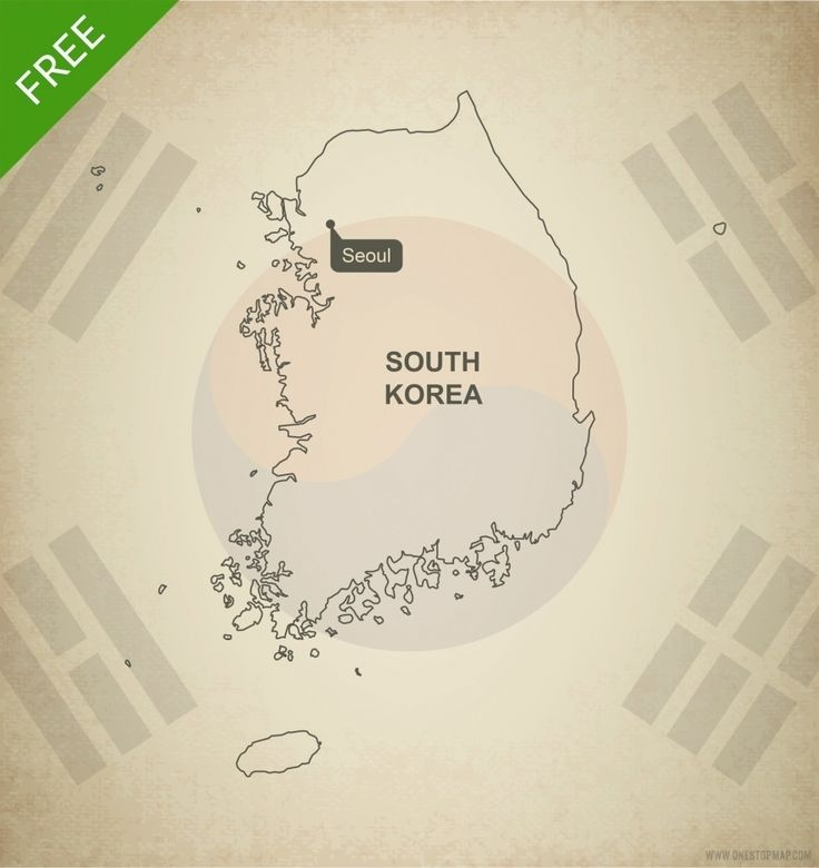 Cyprus Map Vector%0A Free Vector Map of South Korea Outline