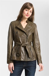 Marc New York Belted Leather Jacket