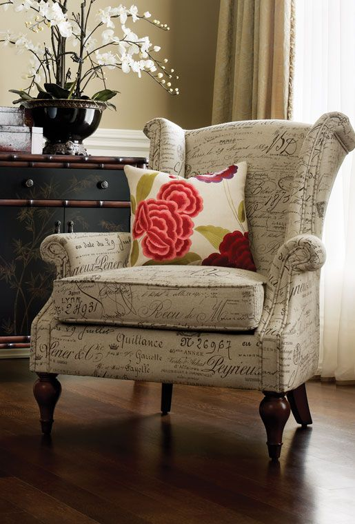"""Bombay & Co Marsan Accent chair. """"...love it, it's like Victoria's chair on Revenge."""""""