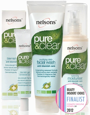Nelsons Pure & Clear anti-blemish care