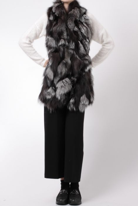 sword wool and fur gilet grey and white s.w.o.r.d. shop online