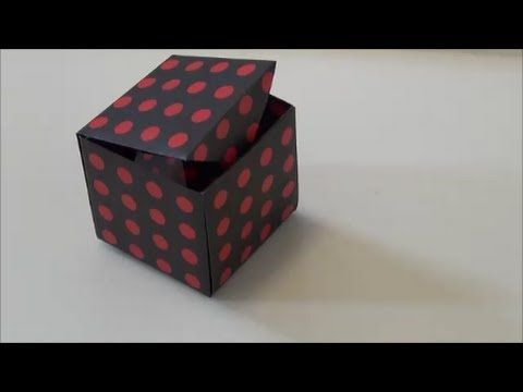 "折り紙1枚でできる「ふた付きの箱」""The box with a lid"" made in one sheet of origami - YouTube"