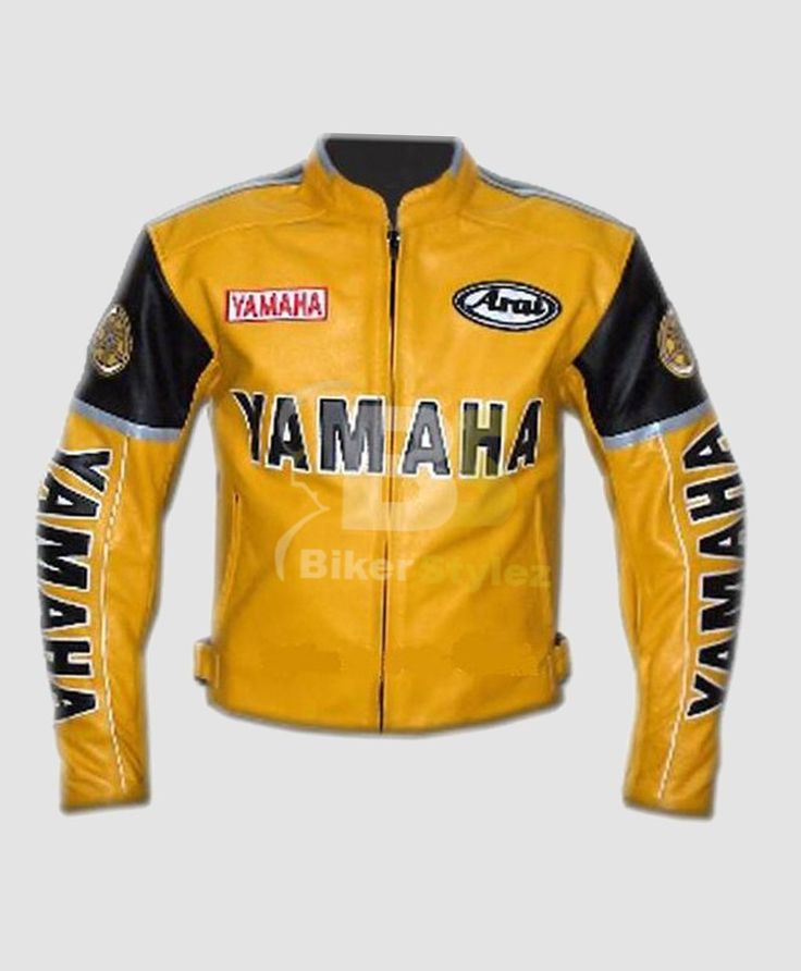 This Yamaha Yellow Versatile Motorcycle Jacket Is The Only Item Which Will Complete Your Rugged Biker Look Even If You Are Not A Bike Fan