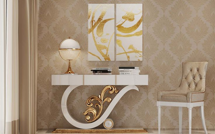 A luxurious and exclusive line that provides a strong and distinct environment.       #design #homedesign #classic #classiccollection #furniture #gold #golddetails #home #homeinteriors #homedecor #homeideas #decoratingideas #homedecorating #decor #inspiration #trends #mobiliario #furniture #interiorsideas #decoração #casa #interiores