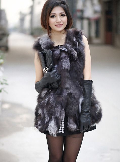 Genuine 100% Natural Real Fox Fur Vest Women Winter Casual Fur Coat Jacket Free Shipping Retail/Wholesale custom big size TF0397 US $115.00-120.0 /piece    CLICK LINK TO BUY THE PRODUCT  http://goo.gl/oYWEYs