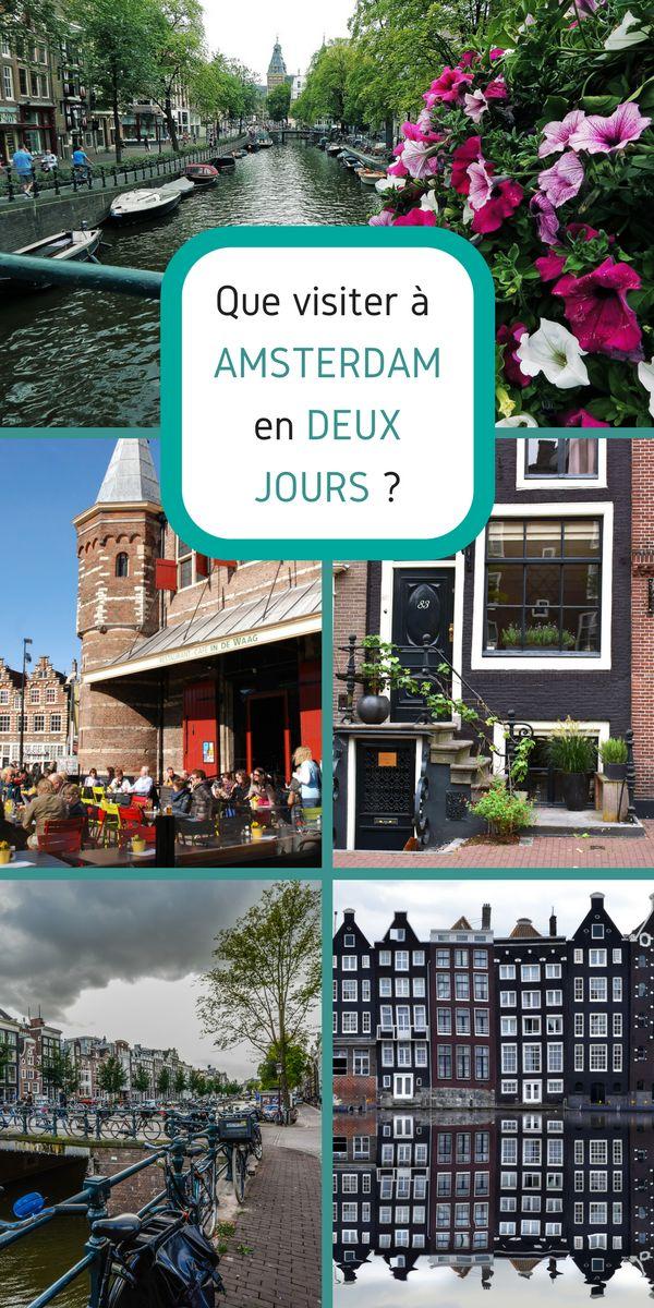 Capitale des Pay-Bas, Amsterdam n'a pas de monument emblématique à proprement parler, mais elle a une atmosphère. Que voir à Amsterdam en deux jours ? #Amsterdam #PaysBas