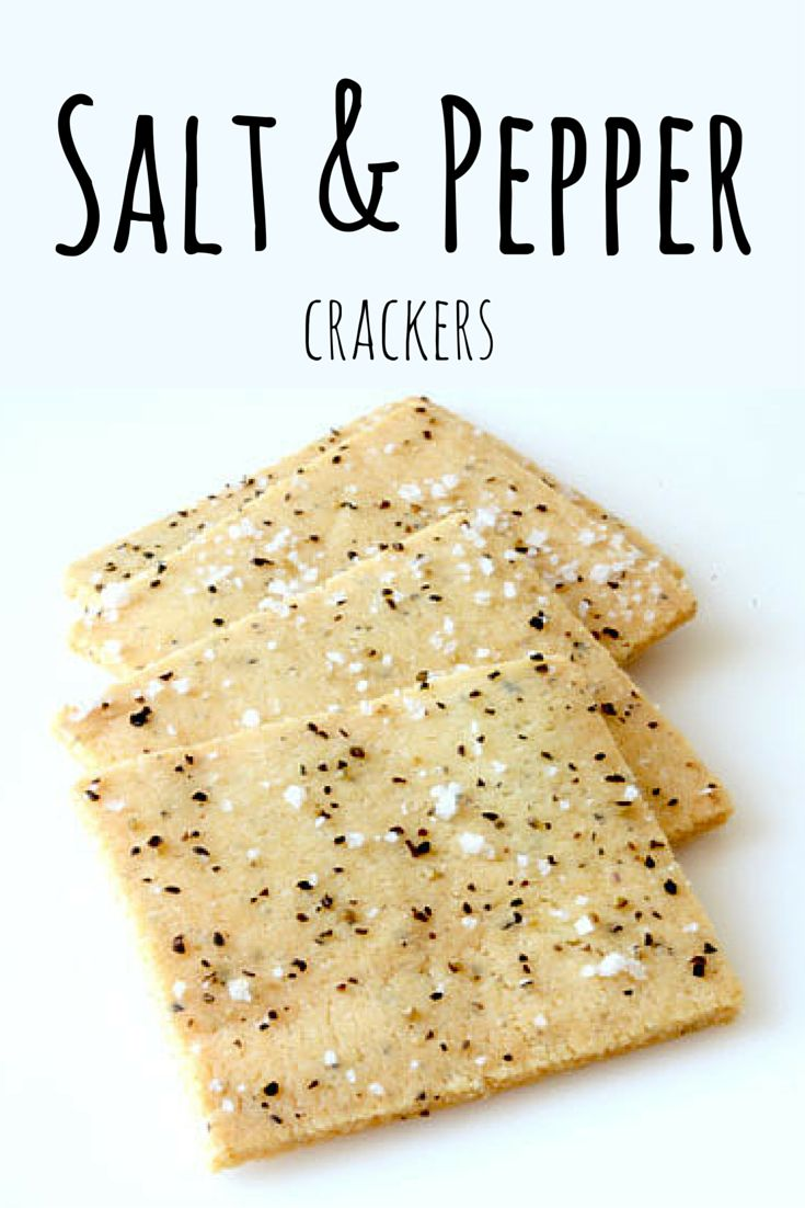 These incredible Salt & Pepper Crackers have just 4 healthy ingredients and…