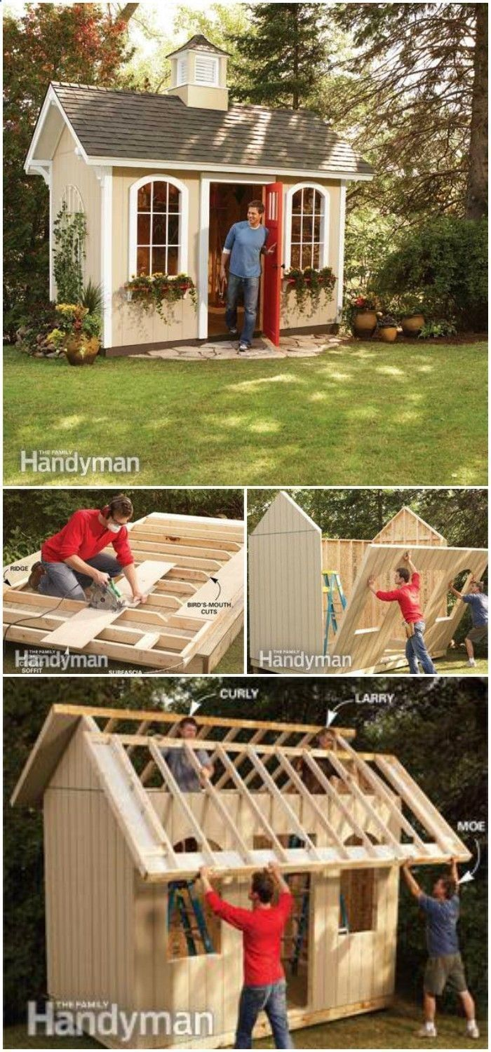 we have brought this collection of DIY Shed Plans that will help you build a beautiful shed of your choice without causing any load on your wallet or pocket!Build A Cheap Storage Shed #buildashedcheap