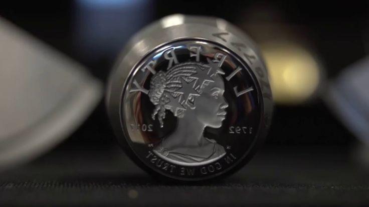 Art American Liberty Gold Coin Justin Kunz and Phebe Hemphill sculpture 2017