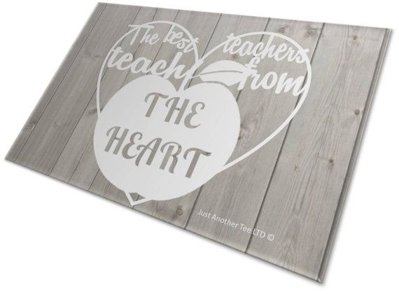 The Best Teachers Teach From The Heart by JustAnotherTee on Etsy