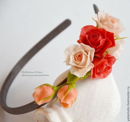 """""""Барбара"""" обруч с цветами - обруч для волос,подарок для девочки,gjlfhjr"""