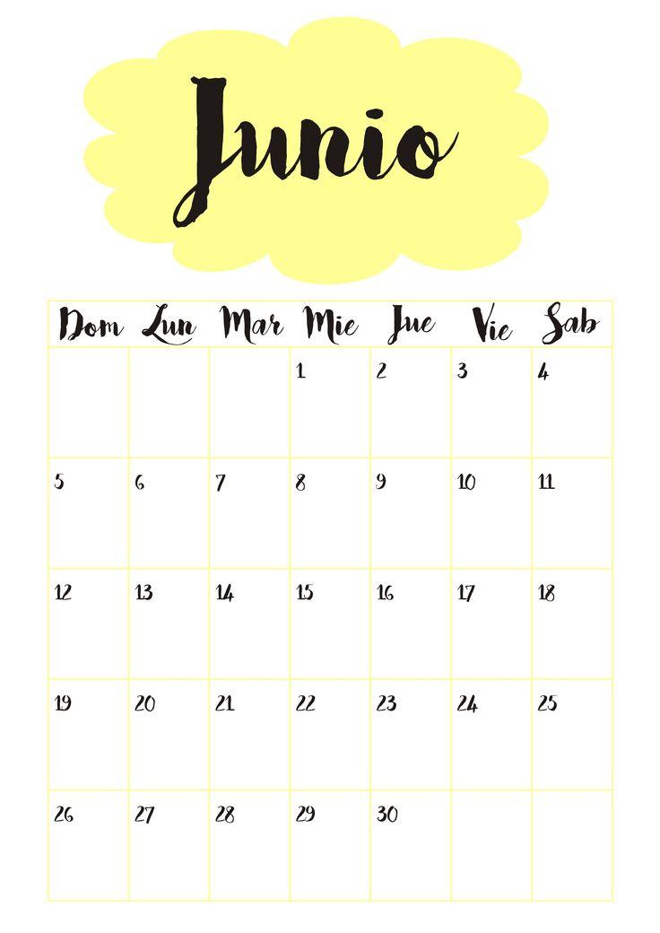Calendario  6 Junio ☼