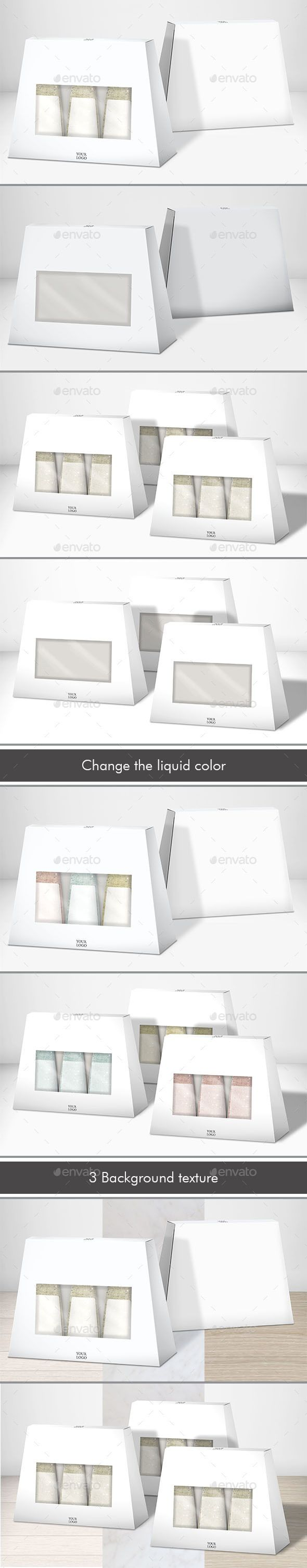 Mock-up Gift Beauty Box - Miscellaneous Packaging