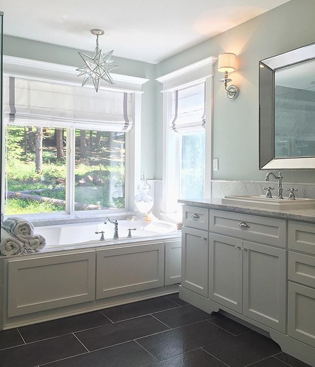 Here is another view of the master bath! I almost went with a beautiful free…