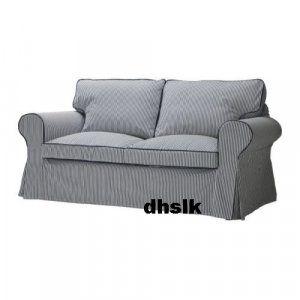 Ikea Ektorp Sofa Bed Slipcover Cover Simris Blue White Stripes