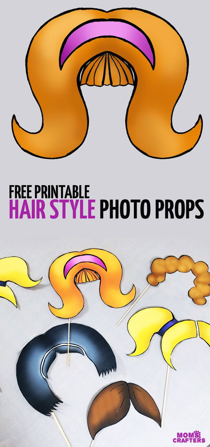 These free printable photo booth props are so adorable - great for dress up, dramatic play, a birthday party theme and more! It went along with a fun instant photo booth at a barber shop party and is perfect for DIY easy photo props to make for a kids or teens birthday party.