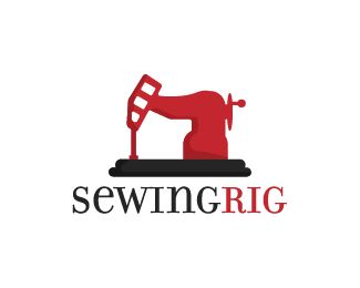 Sewing Rig Logo design - Logo design of a sewing machine shaped as an oil drill.  Price $270.00