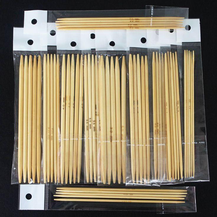 """Купить товар55 Шт. 11 размеры 5 """"13 см Двойной Указал Smooth Bamboo Вязальные Спицы Новый в категории Sewing Tools & Accessoryна AliExpress. этот набор в том числе следующие размеры:2.0 мм/2.25 мм/2.5 мм/2.75 мм/3.0 мм/3.25 мм/3.5 мм/3.75 мм/4.0 мм/4.5 мм/5."""