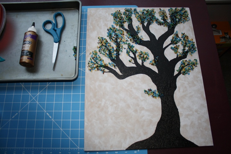 I was working on a button tree, but the buttons didn't look right, so I made a bead tree instead.  I love it!  Thanks, Yoshi, for the suggestion of beads vs. buttons.Classroom Fun, Shopping Inspiration, Art Ideas, Artists Inspiration, Buttonz Boutiques, Buttons Trees, Beads Trees, Art Projects, Crafts