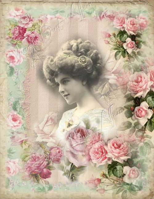 Via digital collage sheet via vintage victorian prints - Vintage and chic love ...