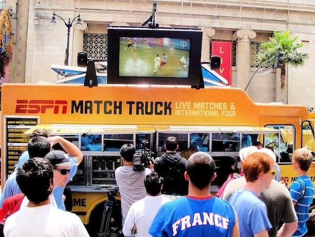 "ESPN ""World Cup Experience"": Provided activation and execution of ESPN's ""World Cup Experience"" via a fully branded, complete food and beverage service food truck, including a large screen television for live World Cup viewing and a specialized Kogi food menu."