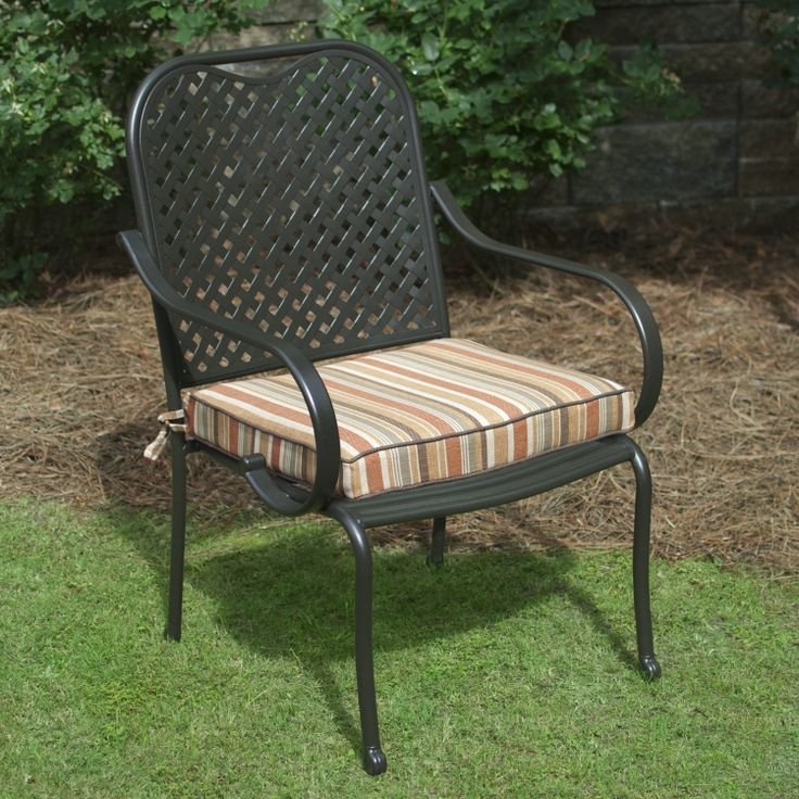 Plantation Patterns Hampton Bay Cayenne Stripe Available At The Home Depot. Outdoor  Chair ...