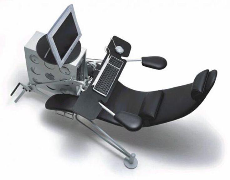 ergonomic pedestal computer desk and chair idea Seating Design