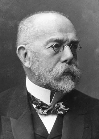 Robert Koch, He discovered the anthrax disease cycle (1876) and the bacteria responsible for tuberculosis (1882) and cholera (1883).