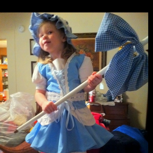 Adleigh-Bo Peep, Halloween 2011.  I made this without a pattern!