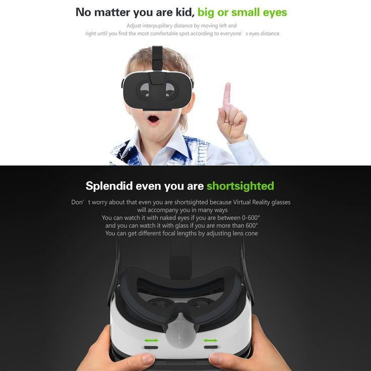 """US Stock 2016 Head-Mounted VR Box Headset Virtual Reality Glasses 3D VR Glasses 3D Movie Game Universal for 4.0""""-6.5"""" Smartphone //Price: $24.31//     #gadgets"""