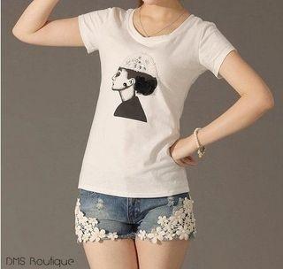 Short Jeans com Renda - Ref.030 — DMS Boutique