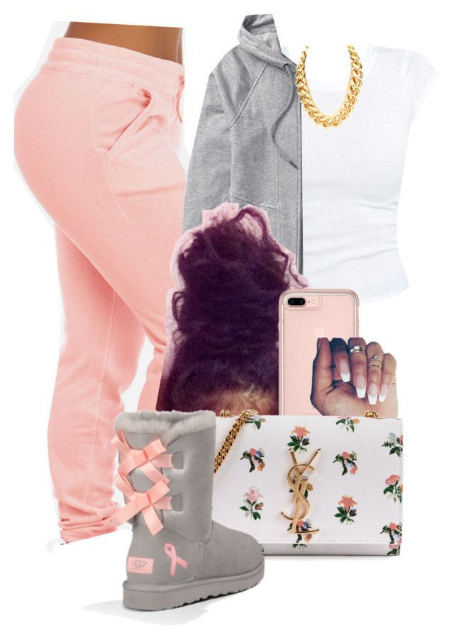 Untitled #1589 by melaninprincess-16 ❤ liked on Polyvore featuring Athleta, Yves Saint Laurent and UGG Australia