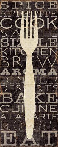 Kitchen Words I Art Print