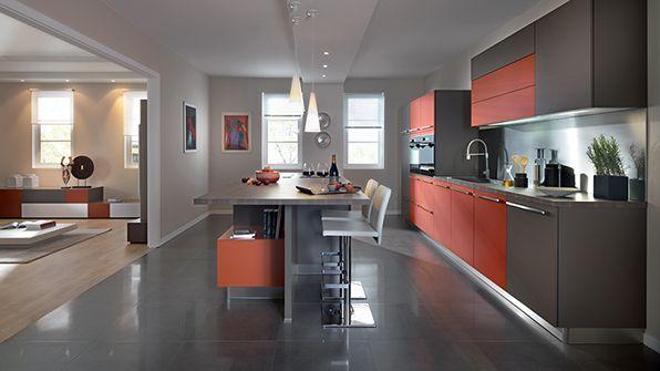 cuisine ouverte sur le salon 23  Cuisine, Deco cuisine et Conception