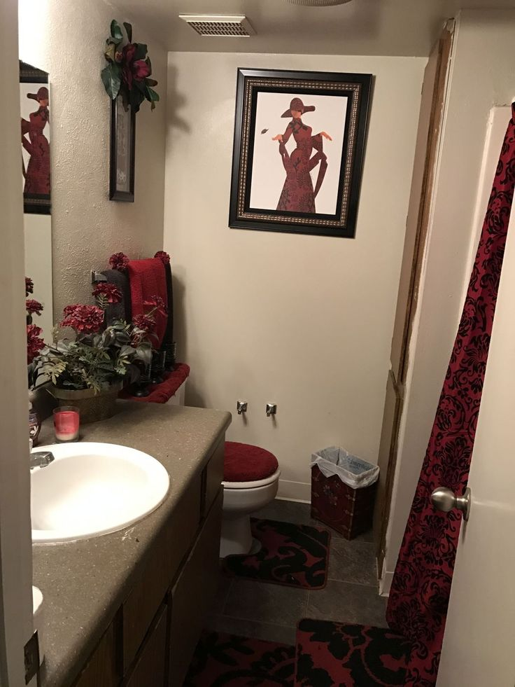 50 Relaxing Red Bathroom Decor Ideas