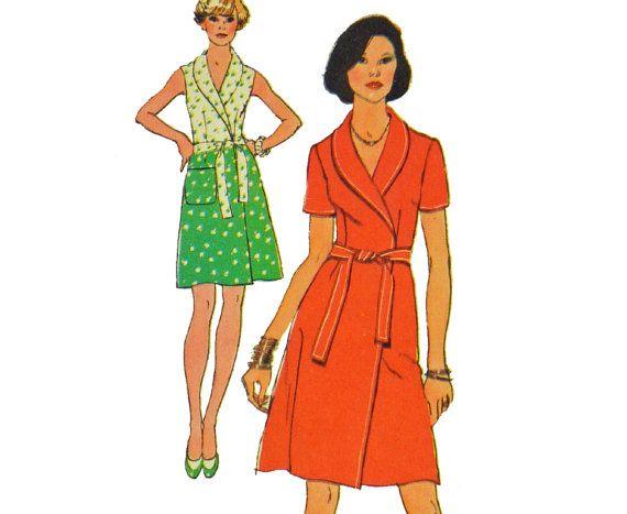 1970s Vintage Dress Patterns / Wrap Dress by ScarlettsVault