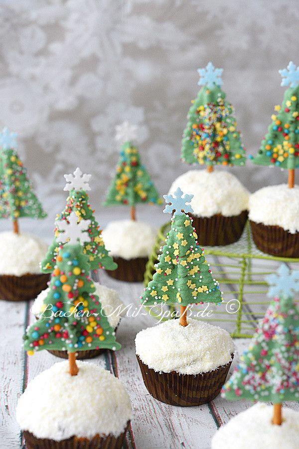 Muffin Tannenbaum.Schoko Tannenbaum Muffins