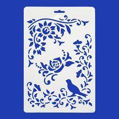 Art. 3987 - Plantilla Stencil Pájaros 21cm 1pz - Fantasias Miguel