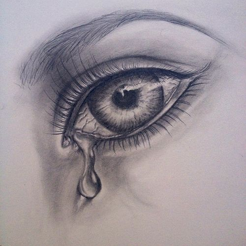 Crying Girl Eyes Drawing | photo | thoughts an feelings ...