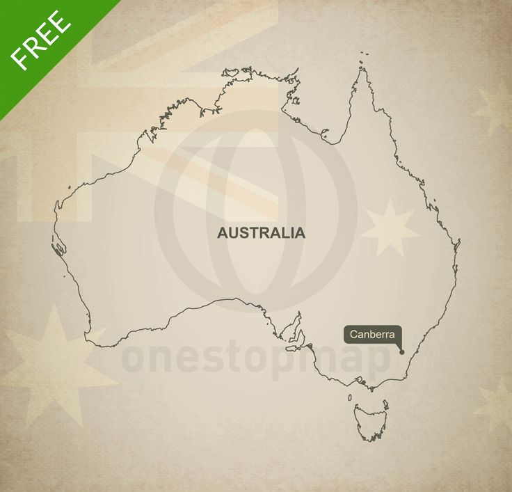 Picture Of Map Of Australia%0A Free Vector Map of Australia Outline