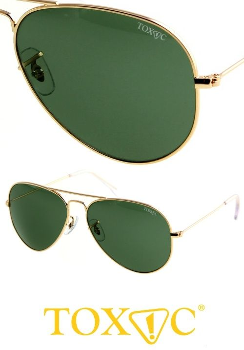 Green lens aviator sunglasses from Toxic. Suitable for men and women. Available now on StayAmazing for only $120
