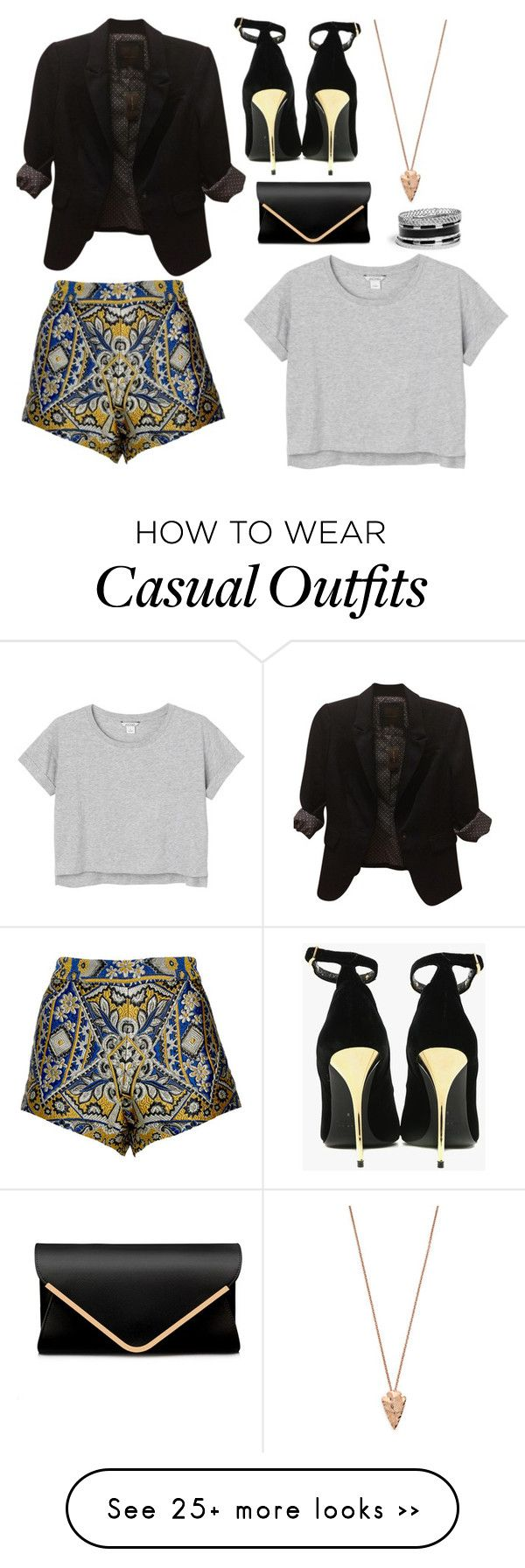 """Casual"" by roxane-murekatete on Polyvore featuring The Limited, Monki, Pamela Love, GUESS and Balmain"