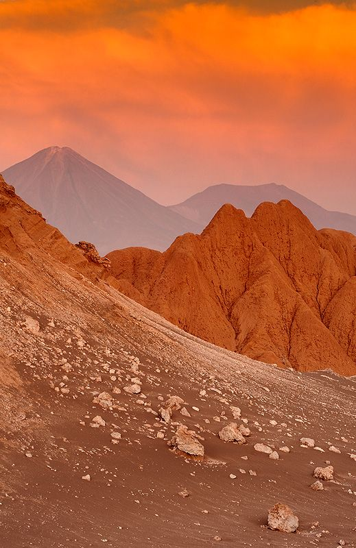 Moon valley, Atacama desert, Chile  This is undoubtfully the driest place in the world where there are literally decades of no rain.