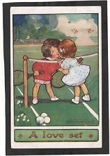 Cartolina A Love set Bambine tenniste Illustratore Agnes Richardson YA726