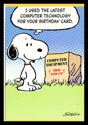 Birthday Card Charles Schulz Jpg 300x428 Happy Cards From Snoopy