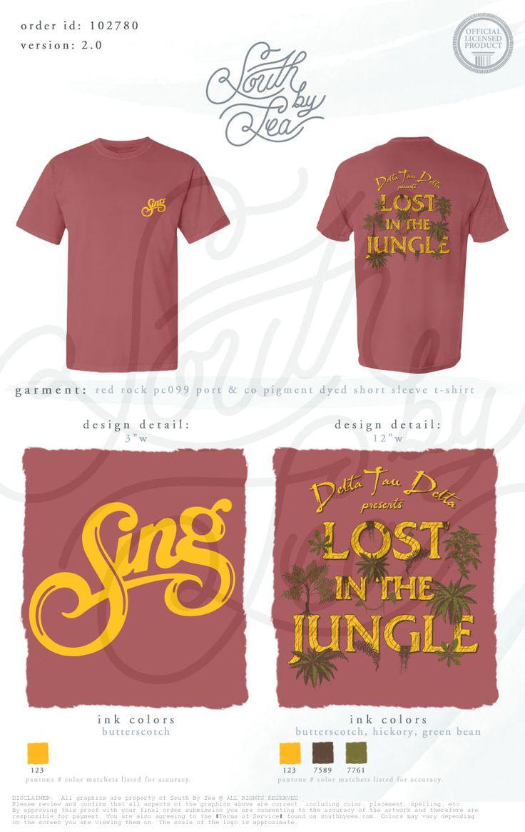Sing | Delta Tau Delta | DTD | Lost in the Jungle | Jungle Theme T-Shirt | South…