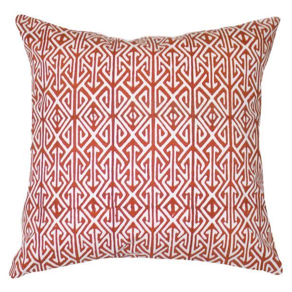 Arrow Orange Block Cushion 55x55cm