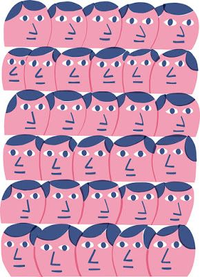patterns by quenalbertini - pink faces pattern - via marcusoakley.blogspot...